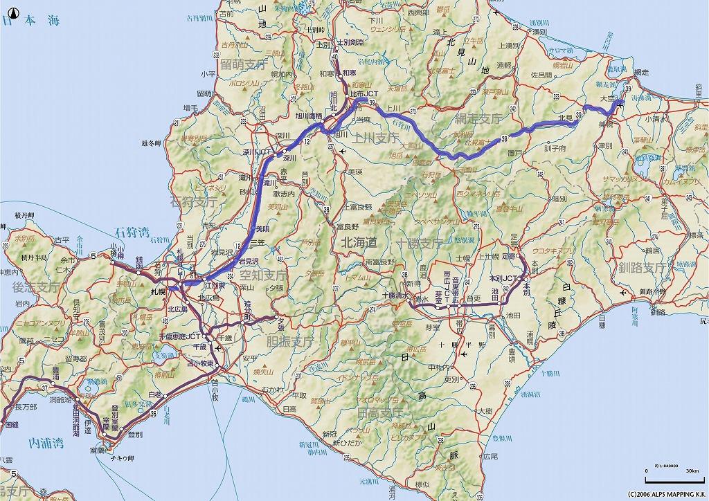 19980817 北海道ツーリング:3日 ... : 関東の地図 : すべての講義